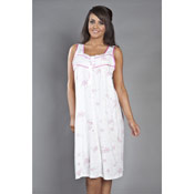 Ladies Sleeveless Nightie Flower Print