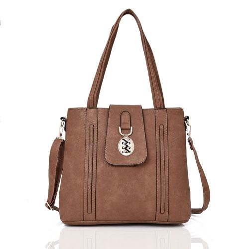 Ladies Freya Medallion Detail Handbag Khaki
