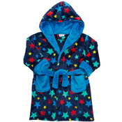Childrens Boys Star Printed Dressing Gown