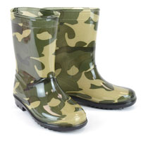 Kids Camo Wellington Boots