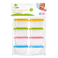 Mini Storage Pots With Lids 8 Pack
