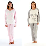 Ladies Cici Bear With Scarf Pyjama Set