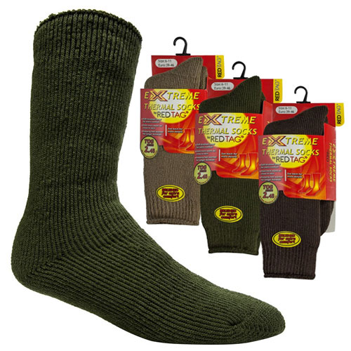 Mens Extreme Thermal Socks Green 2.45 TOG