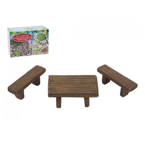 Secret Fairy Garden Bench And Table Set