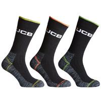 JCB 3 Pack Mens High Vis Boot Sock