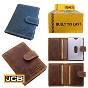 JCB Mens Leather Credit Card Sleeves Wallet