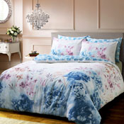 Bold Painted Floral Blue Duvet Set