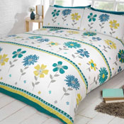 Signature Home Hattie Teal Duvet Set