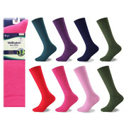 Ladies Wellington Boot Socks Plain Colours