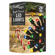 Christmas 20 LED String Lights Multi Coloured