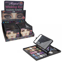 39 Colour Cosmetic Compact With Folding Mirror