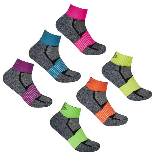 Ladies Sport Trainer Liners Socks Reflective