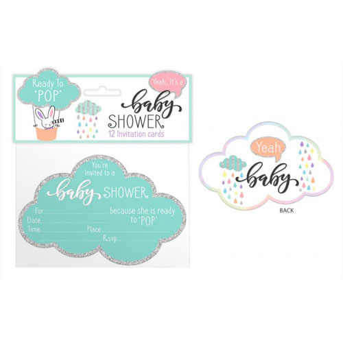 Baby Shower Invitations 12 Pack
