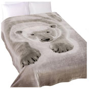 Polar Bear Cozy Luxurious Mink Throw