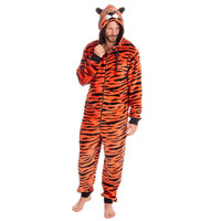 Mens Tiger Flannel Onezee