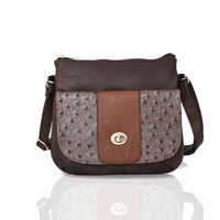 Carrie Ann Pocket Cross Body Bag Brown