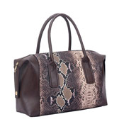 Ladies Layla Snake Print Handbag Brown