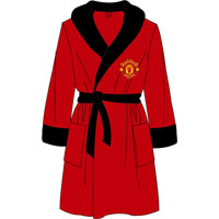 Official Mens Manchester United Fleece Dressing Gowns