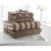 4 Piece Towel Bale Coffee