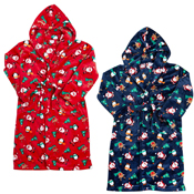 Child Christmas Printed Dressing Gown