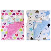 Baby Soft Mink Blanket Hearts/Stars