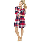 Ladies Printed Nightshirt Checked
