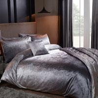 Luxury Ombre Velvet Duvet Set Grey