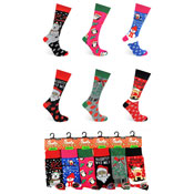 Ladies Christmas Santa Socks Novelty