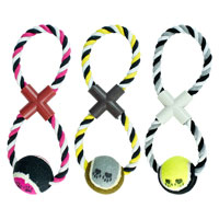 Rope Dog Pull And Tug Toy With Ball
