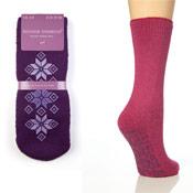 Ladies Gripper Slipper Socks