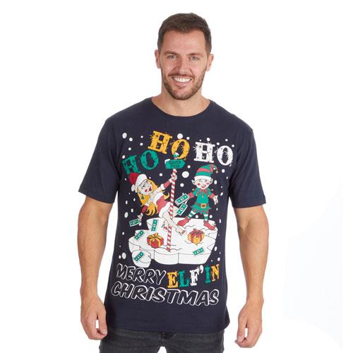 Christmas T-Shirt Navy HoHoHo
