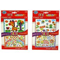 2 In 1 Sponge Stamp Art Picture Kit