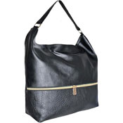 Ladies Black Tassel Handbag With Zip