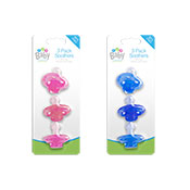 Assorted Baby Soothers 3 Pack