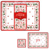 Christmas Joy Placemats And Coasters 4 Pack
