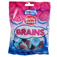 Strawberry Brains Sweets 100g Bag