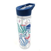 Reusable Water Bottle With Straw Sealife