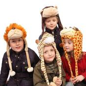 Childrens Soft Furry Animal Hat