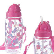 Kids Unicorn Water Bottle With Straw & String