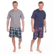 Mens Stripes Style Lounge Shortie Set