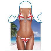 Novelty Apron St Georges Flag Bikini