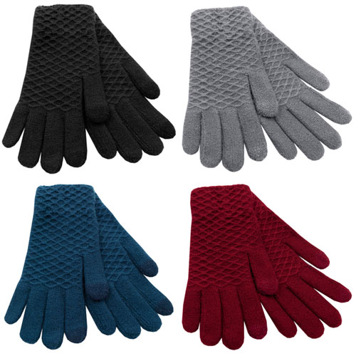 Ladies Textured Touchscreen Gloves