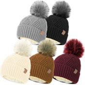 Ladies Fleece Liner Bobble Hat With Detachable Pom Pom Carton Price
