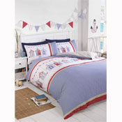 Beach Hut Duvet Set Bedding