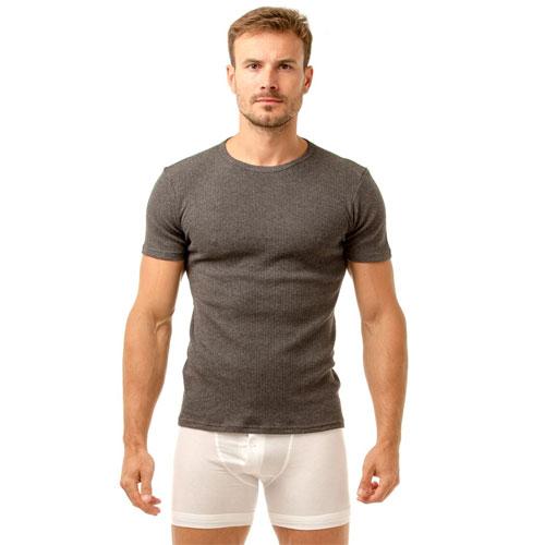 Haigman 2 pack Crew Neck Thermal T-Shirt Grey