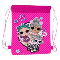 Official LOL Surprise Glitter On Pull String Bag