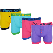 Mens Button Fly Bright Boxer Shorts