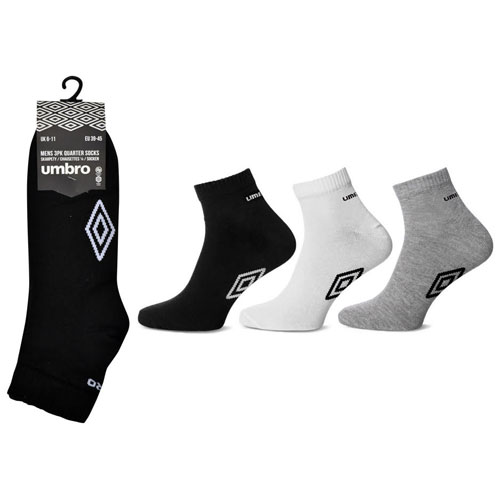 Mens Umbro Quarter Socks