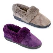 Ladies Fur Cuff Full Slippers