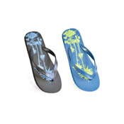 Mens Palm Tree Print Flip Flops